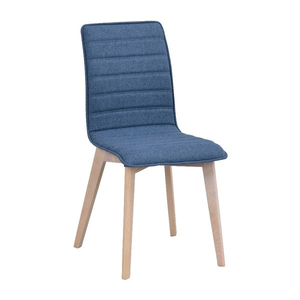 Modrá jedálenská stolička so svetlohnedými nohami Rowico Grace