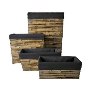Set čtyř košíků, různé velikosti, bambus