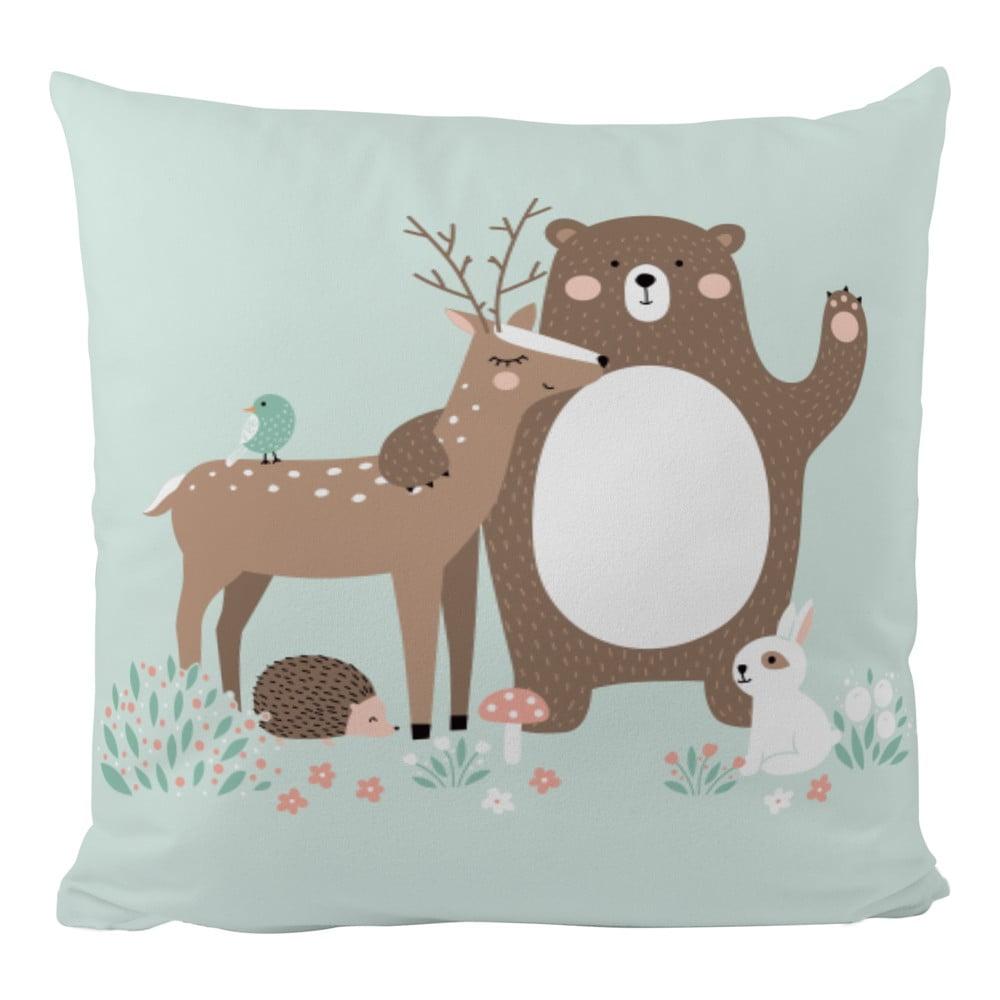 Povlak na polštář z bavlněného saténu Mr. Little Fox Dear Friends, 50x50cm