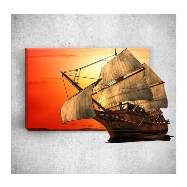 Nástěnný 3D obraz Mosticx Big Boat, 40 x 60 cm