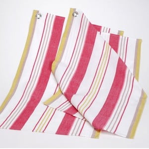 Set kuchyňských utěrek Red Yellow Stripes, 50x70 cm, 2 ks