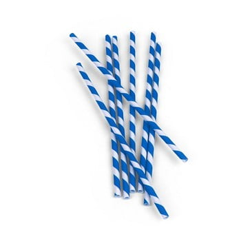 Set 144 paie din hârtie Kikkerland, albastru-alb de la Kikkerland