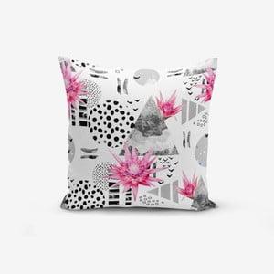 Povlak na polštář s příměsí bavlny Minimalist Cushion Covers Bat Petegi Lotus Cicegi, 45 x 45 cm