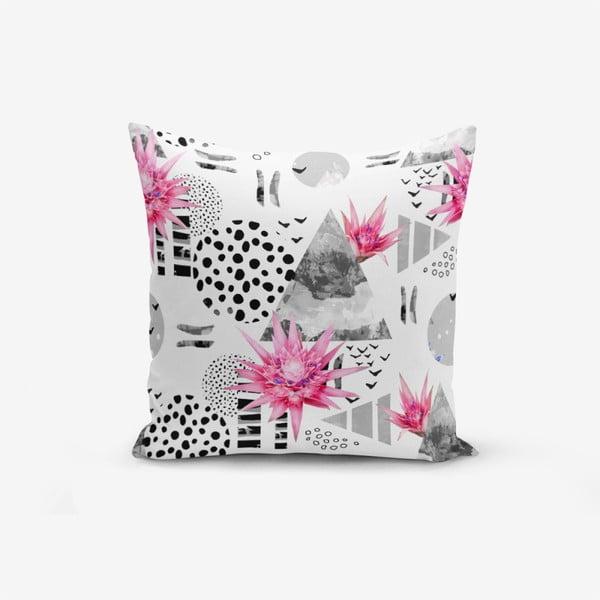 Față de pernă cu amestec din bumbac Minimalist Cushion Covers Bat Petegi Lotus Cicegi, 45 x 45 cm