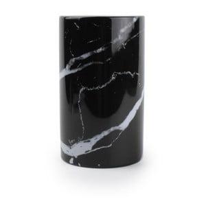 Černý stojan na kuchyňské potřeby Salt&Pepper Marble