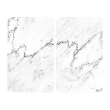 Set 2 protecții din sticlă pentru aragaz Wenko Marble, 52 x 30 cm imagine