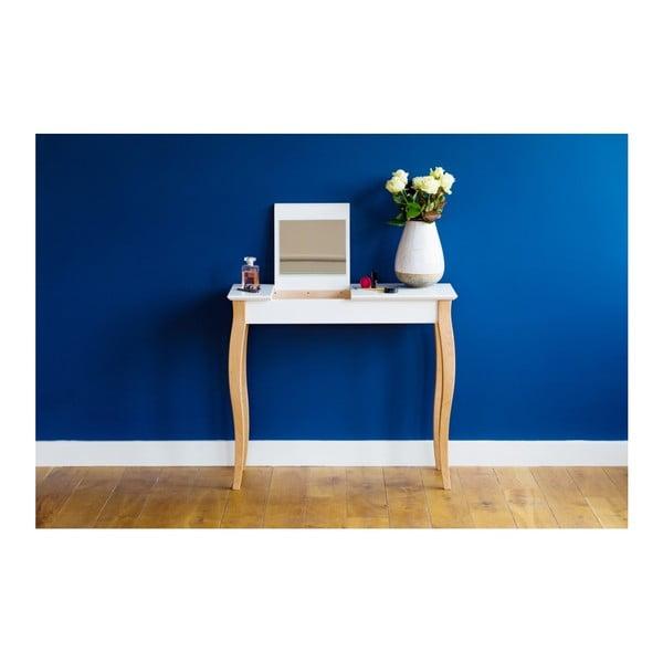 Grafitově šedý toaletní stolek se zrcadlem Ragaba Dressing Table,délka85cm