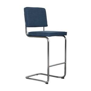 Tmavě modrá barová židle Zuiver Ridge Kink Vintage