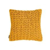 Žlutý polštář ZicZac Waves, 45x45cm