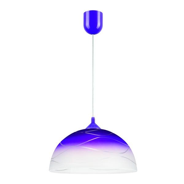Niebieska lampa wisząca Lamkur Waves