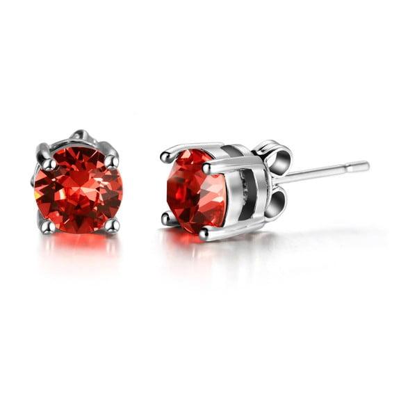 Hailye fülbevaló piros kristályokkal - Swarovski Elements Crystals