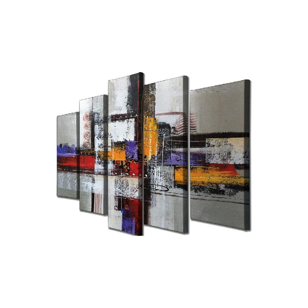 5dílný nástěnný obraz na plátně Abstract