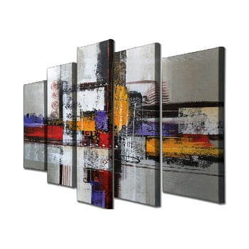 Tablou pe pânză din 5 piese Abstract de la Unknown