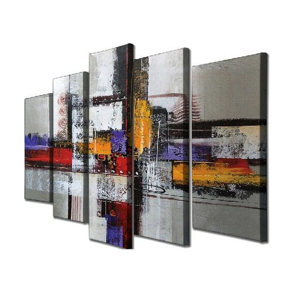Tablou pe pânză din 5 piese Abstract