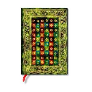 Caiet cu copertă tare Paperblanks Verde, 13 x 18 cm