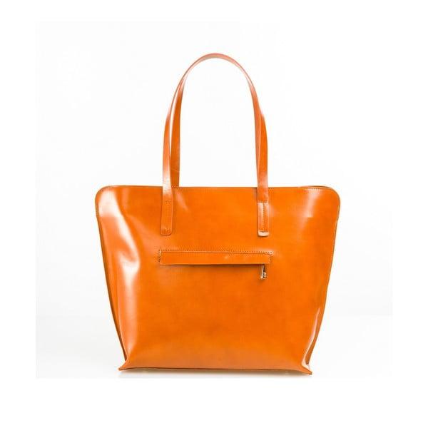 Kožená kabelka Aurel, oranžová