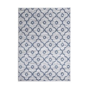 Šedý vysoce odolný koberec Floorita Tibet, 80 x 150 cm