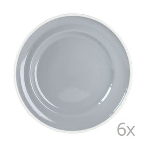 Sada 6 talířů Puck 21 cm, šedý