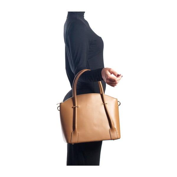 Kožená kabelka Isabella Rhea 3025 Cognac