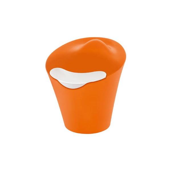 BA BA BIN&BAG, odpadkový koš, oranžovo-bílý