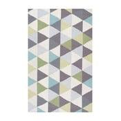 Vlněný koberec Triangles Green, 152x244 cm