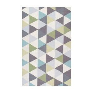 Vlněný koberec Triangles Green, 122x182 cm