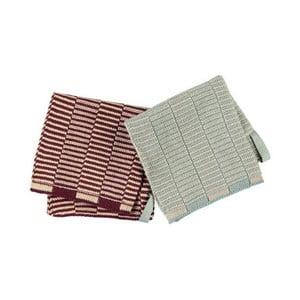 Sada 2 kuchyňských utěrek z organické bavlny OYOY Stringa
