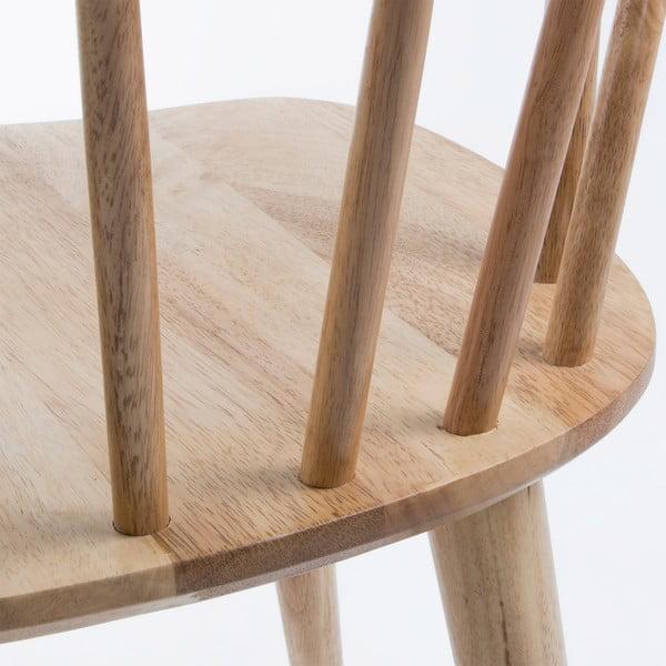 Sada 2 přírodních jídelních židlí La Forma Krise
