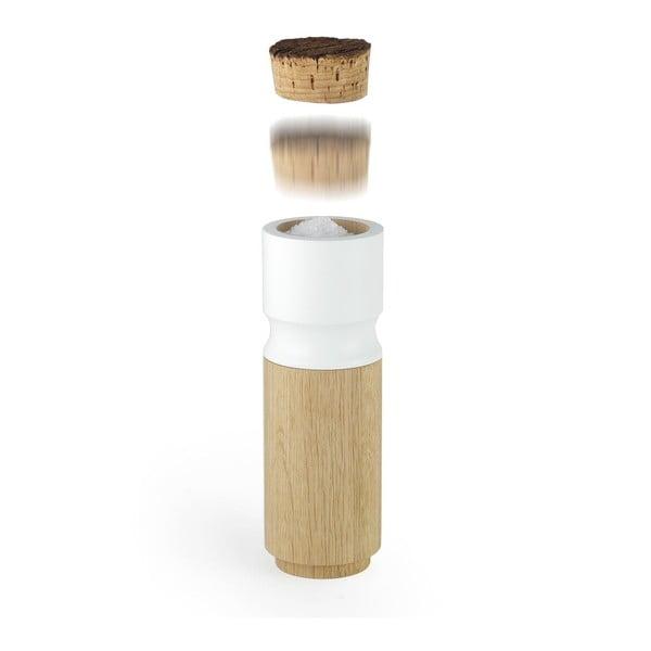 Set mlýnku na pepř a slánky z dubového dřeva Wireworks Pinch&Grind