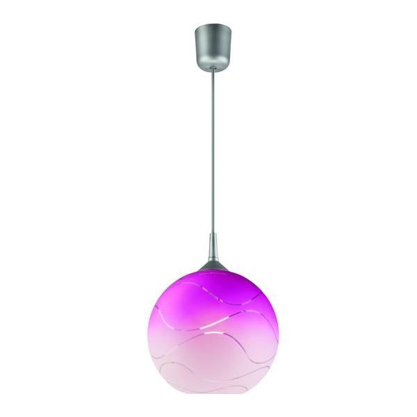 Różowa okrągła lampa wisząca Lamkur Waves