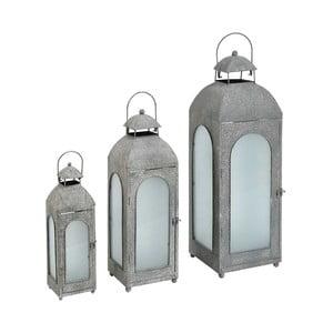Set tří kovových lamp Grigio