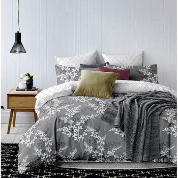 Lenjerie de pat din microfibră DecoKing Calluna, 160 x 200 cm, gri de la DecoKing