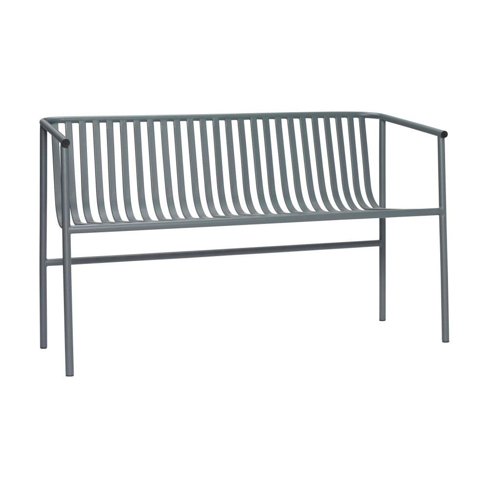 Šedá železná lavice Hübsch Bench