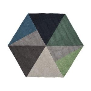 Vlněný koberec Sato Petrol, 150x130 cm