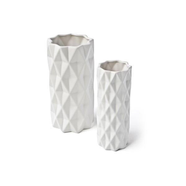 Bílá váza Hawke&Thorn, výška 22 cm
