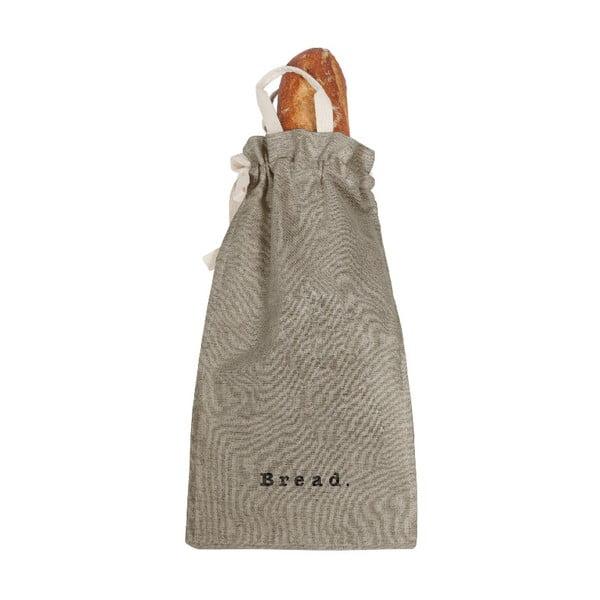Látkový vak na chlieb s prímesou ľanu Linen Couture Bag Grey, výška 42 cm