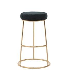 Černá stolička InArt Velvet Society, výška68cm