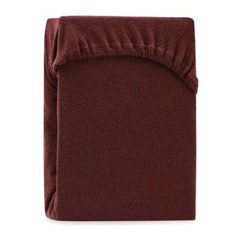 Cearșaf elastic pentru pat dublu AmeliaHome Ruby Brown, 200-220 x 200 cm, maro