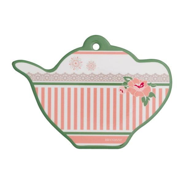 Keramický tanierik na čajové vrecúška Brandani Peony