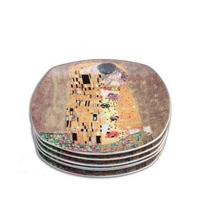 Gustav Klimt - sada 6 dezertních talířků Kiss