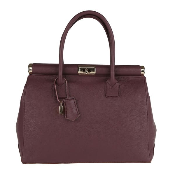 Fialová kožená kabelka Chicca Borse Blair
