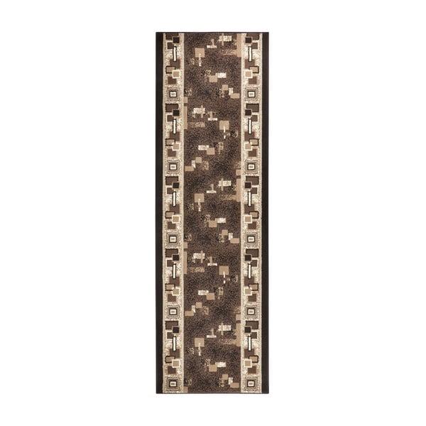 Hnědý běhoun Hanse Home Retro, 80x200 cm