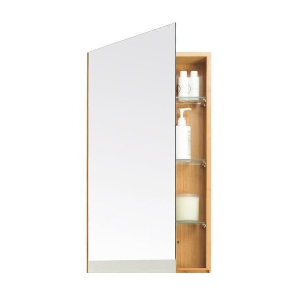 Bambusová skrinka do kúpeľne so zrkadlovými dvierkami Wireworks Arena Bamboo