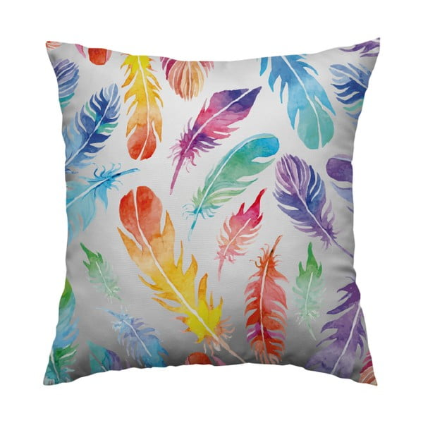 Polštář Rainbow Feathers, 40x40 cm