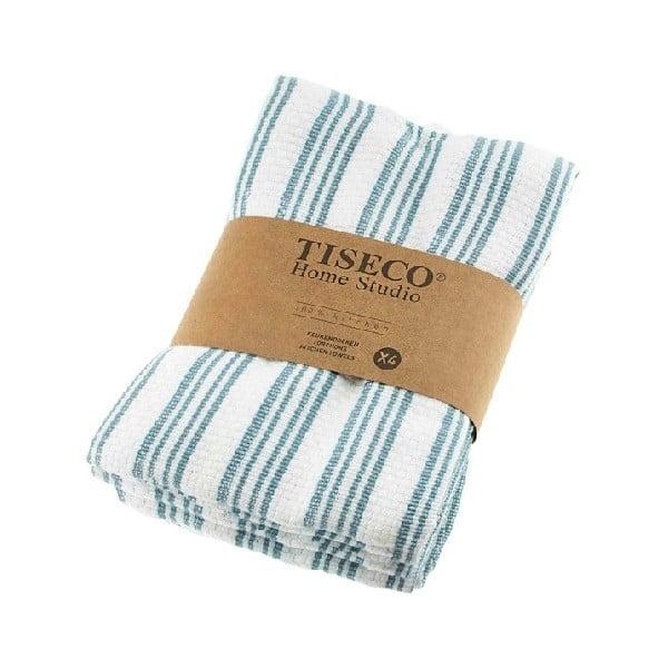 Sada 4 modrých bavlněných utěrek Tiseco Home Studio, 50 x 70 cm