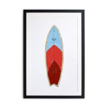 Tablou/poster înrămat Really Nice Things Surf Board, 40 x 60 cm