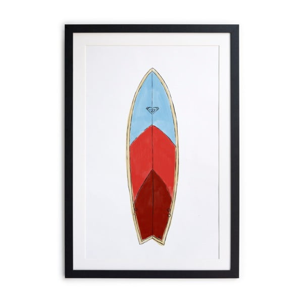 Surf Board keretezett poszter, 40 x 60 cm - Really Nice Things