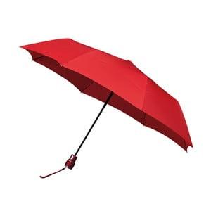 Větruodolný červený skládací deštník Ambiance Mini-Max, ⌀100cm