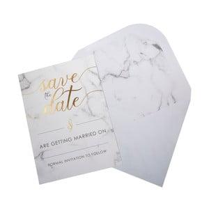 Sada 10 svatebních oznámení s obálkami Neviti Scripted Marble