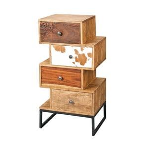 Comodă din lemn masiv cu 4 sertare 13Casa Industry